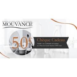 Chèque cadeau Mouvance d'une valeur de 50 euros